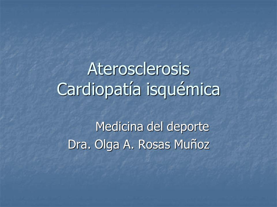 Aterosclerosis Cardiopatía isquémica