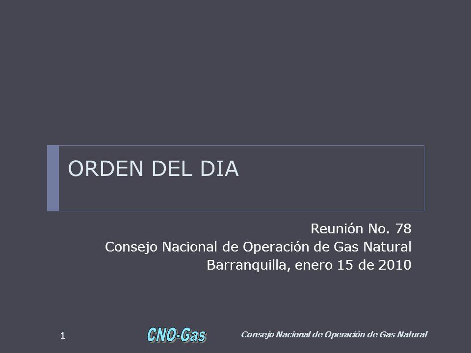 ORDEN DEL DIA Reunión No. 78
