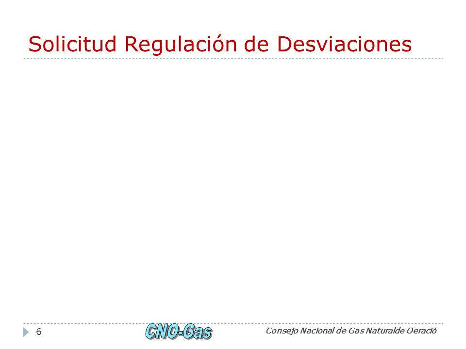 Solicitud Regulación de Desviaciones