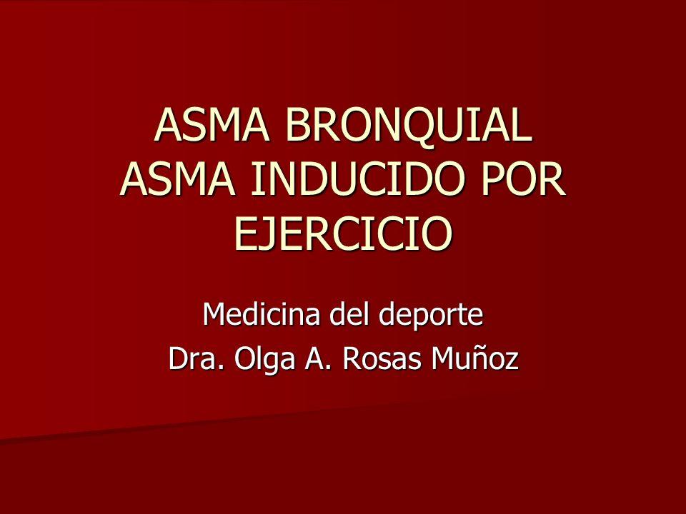 ASMA BRONQUIAL ASMA INDUCIDO POR EJERCICIO
