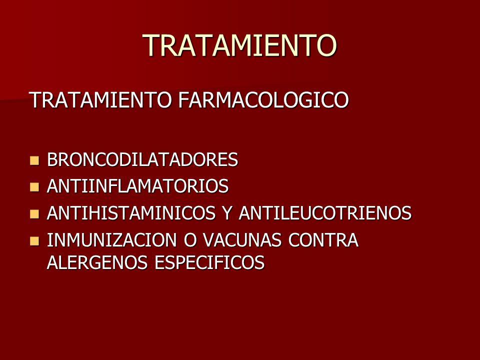 TRATAMIENTO TRATAMIENTO FARMACOLOGICO BRONCODILATADORES