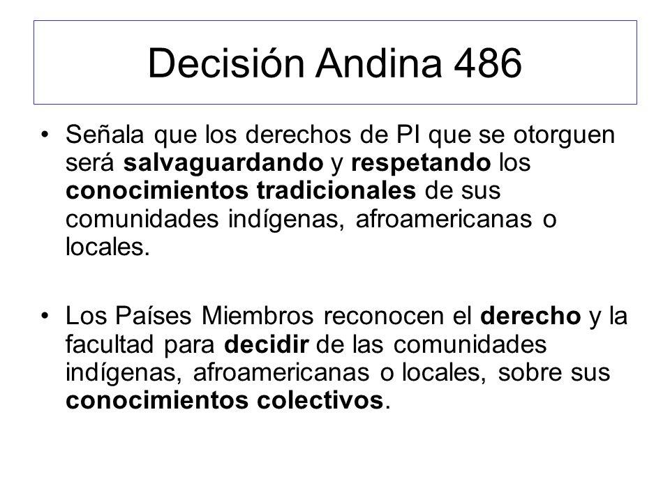 Decisión Andina 486