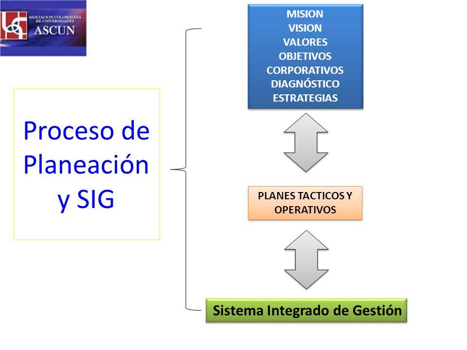Proceso de Planeación y SIG