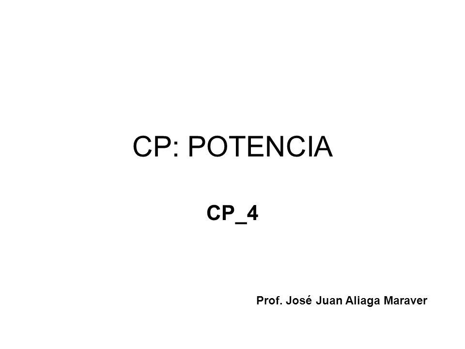CP: POTENCIA CP_4 Prof. José Juan Aliaga Maraver