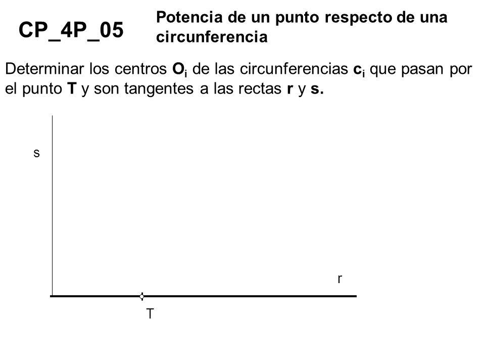 CP_4P_05 Potencia de un punto respecto de una circunferencia