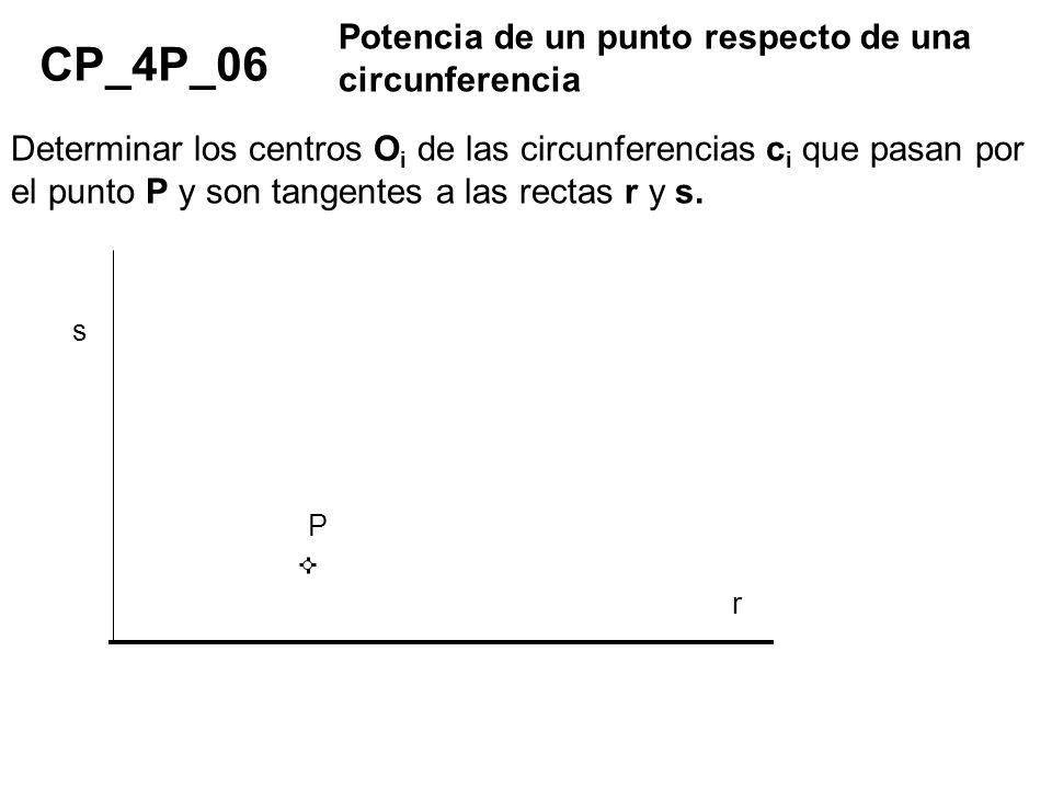 CP_4P_06 Potencia de un punto respecto de una circunferencia