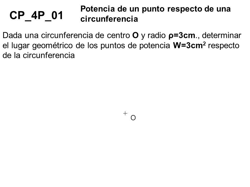 CP_4P_01 Potencia de un punto respecto de una circunferencia