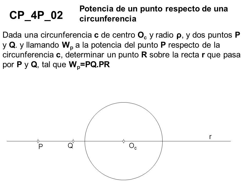 CP_4P_02 Potencia de un punto respecto de una circunferencia