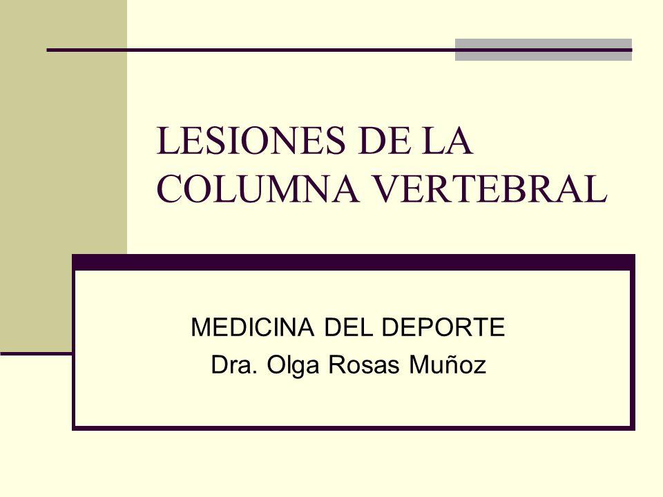 LESIONES DE LA COLUMNA VERTEBRAL