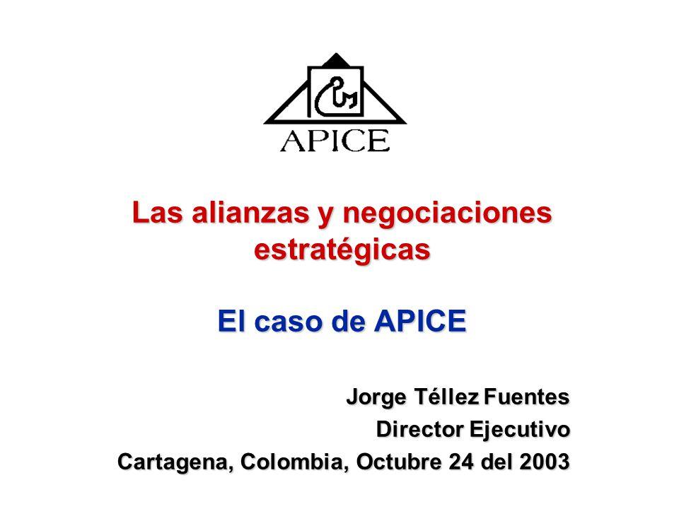 Las alianzas y negociaciones estratégicas El caso de APICE