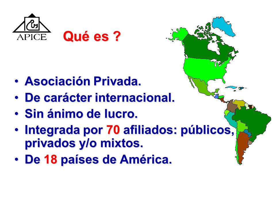 Qué es Asociación Privada. De carácter internacional.
