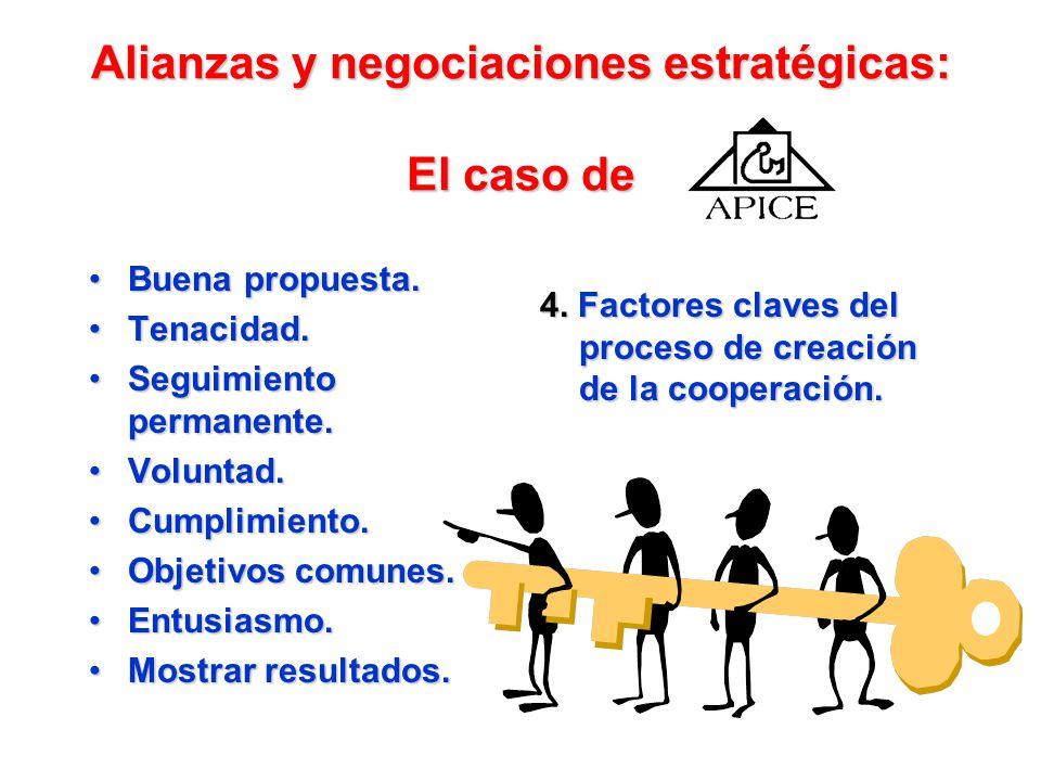 Alianzas y negociaciones estratégicas: El caso de