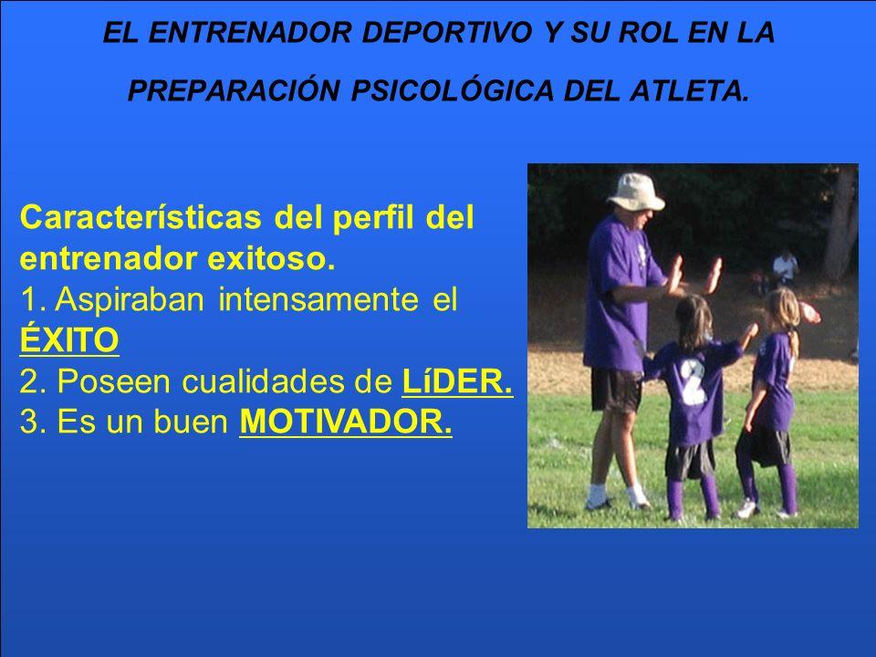 Características del perfil del entrenador exitoso.