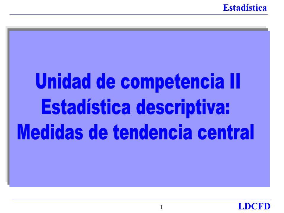 Unidad de competencia II Estadística descriptiva: