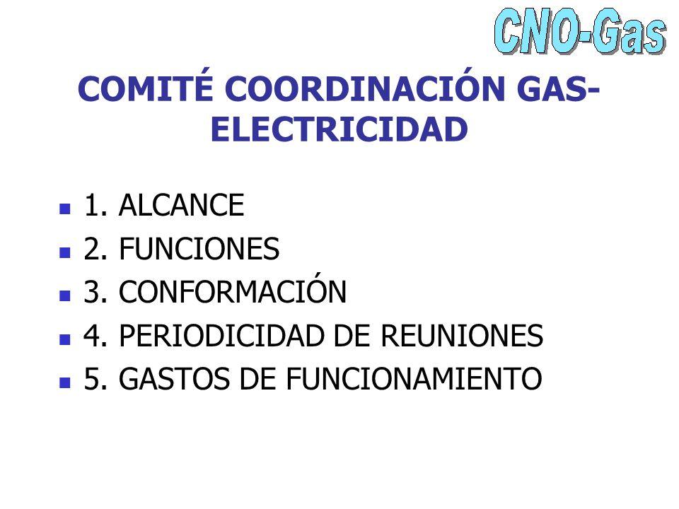 COMITÉ COORDINACIÓN GAS-ELECTRICIDAD