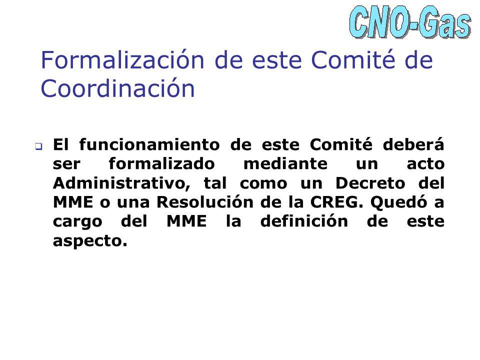 Formalización de este Comité de Coordinación