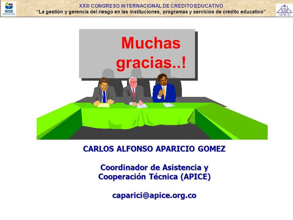 Muchas gracias..! CARLOS ALFONSO APARICIO GOMEZ