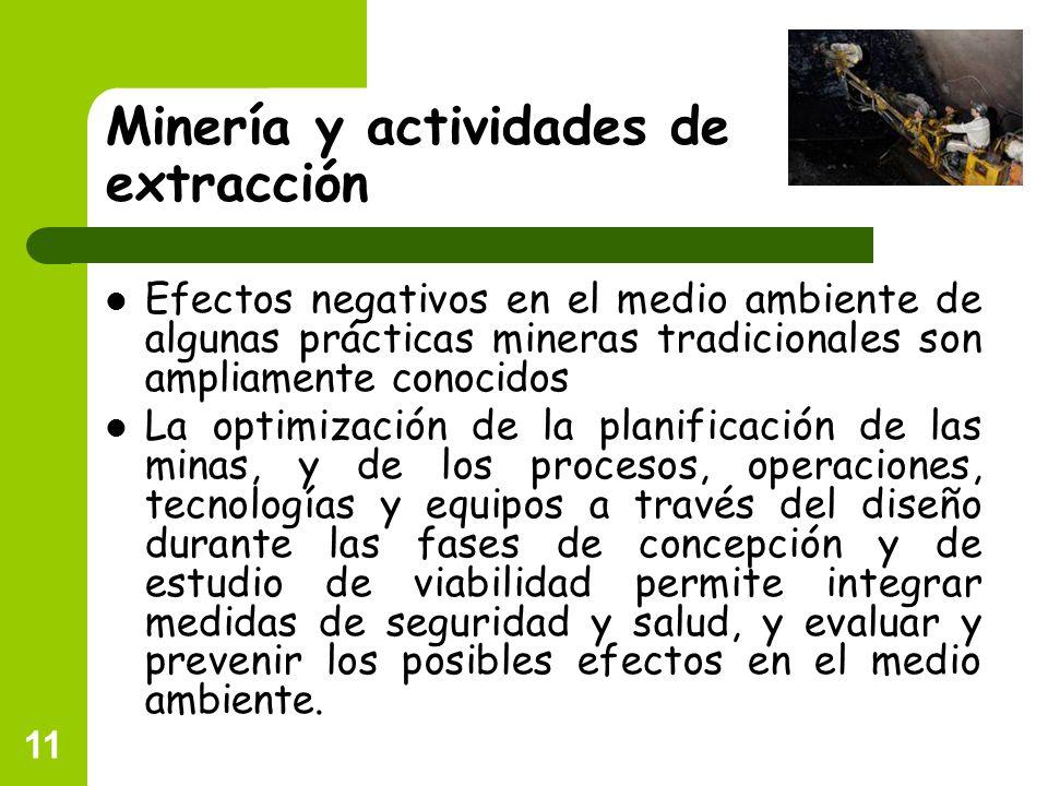 Minería y actividades de extracción