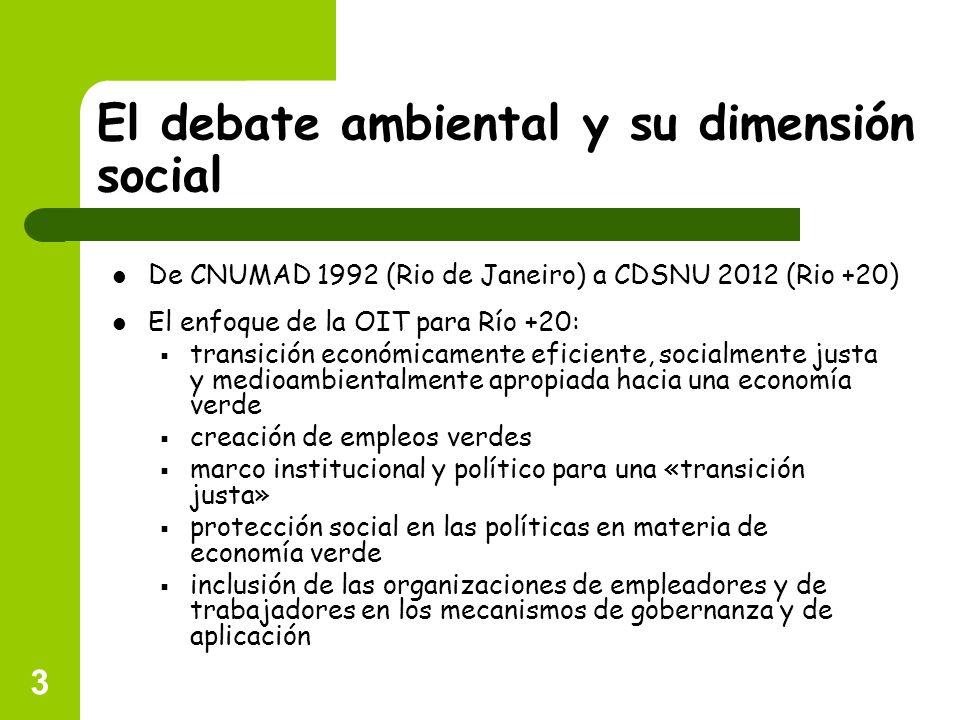 El debate ambiental y su dimensión social