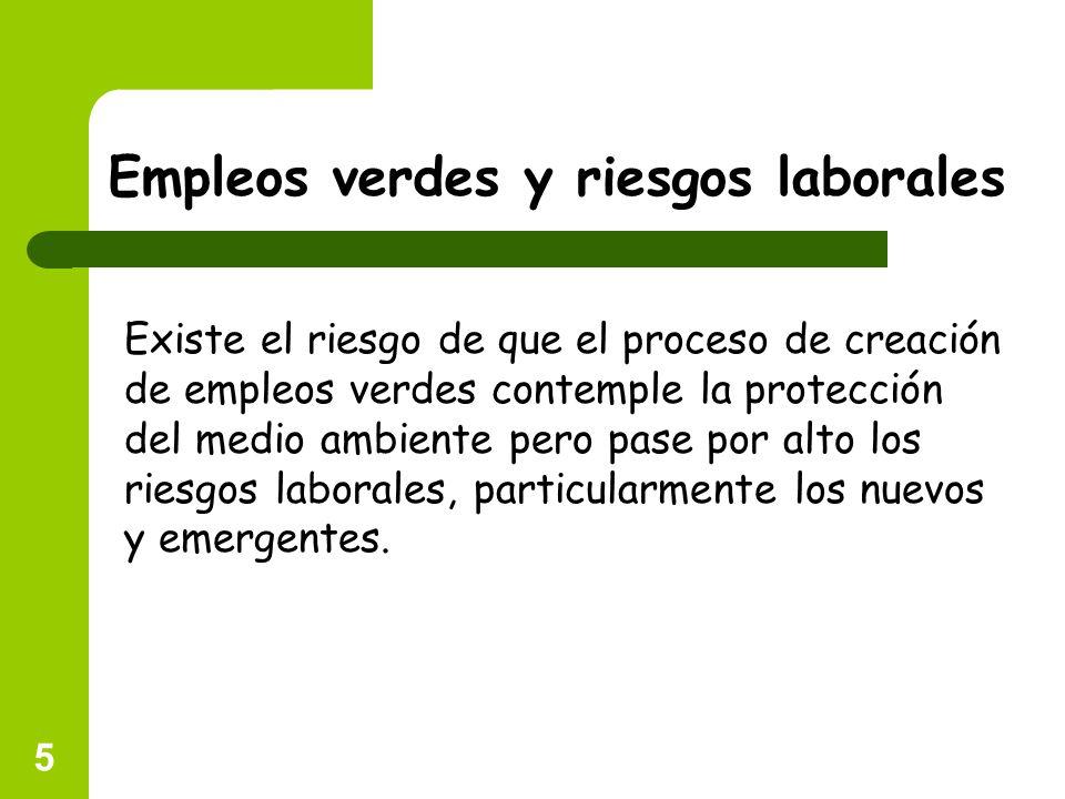 Empleos verdes y riesgos laborales