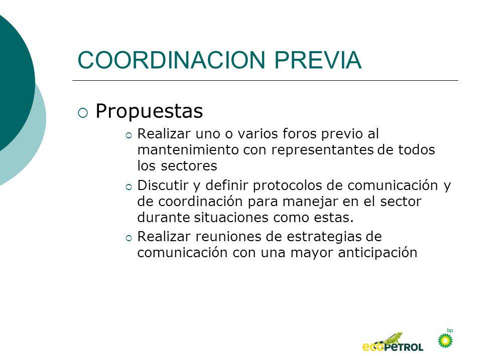 COORDINACION PREVIA Propuestas