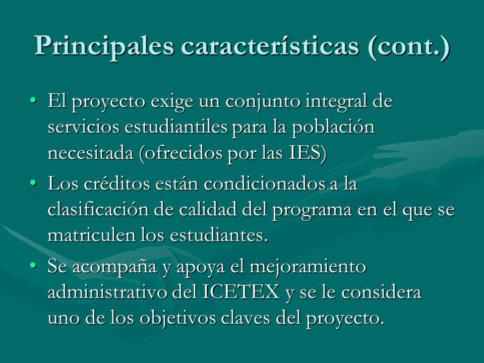 Principales características (cont.)