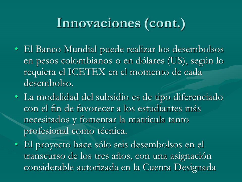 Innovaciones (cont.)