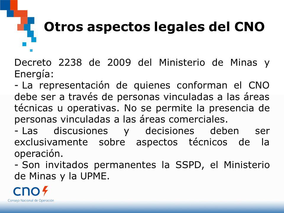 Otros aspectos legales del CNO