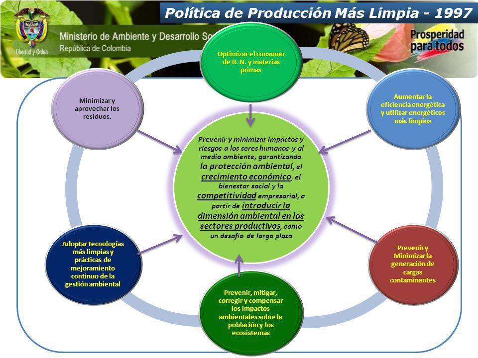Política de Producción Más Limpia - 1997