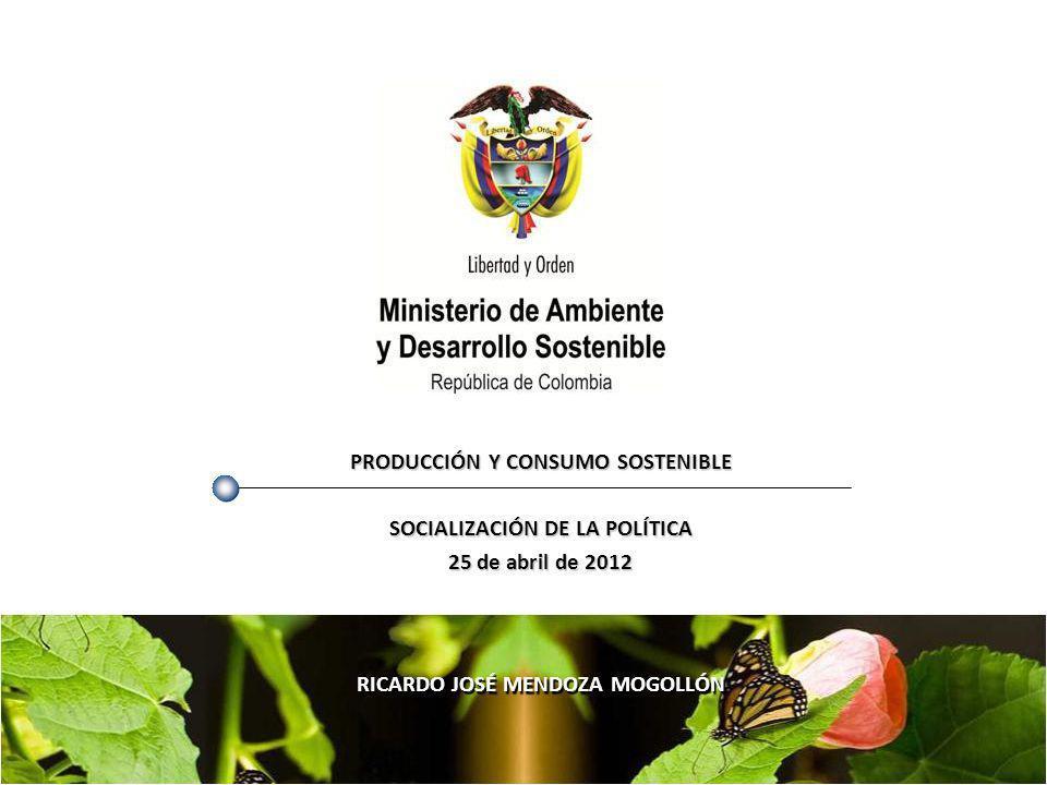 PRODUCCIÓN Y CONSUMO SOSTENIBLE SOCIALIZACIÓN DE LA POLÍTICA