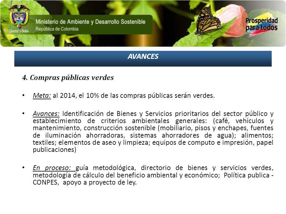 AVANCES 4. Compras públicas verdes