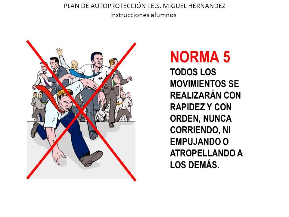 NORMA 5 TODOS LOS MOVIMIENTOS SE REALIZARÁN CON RAPIDEZ Y CON
