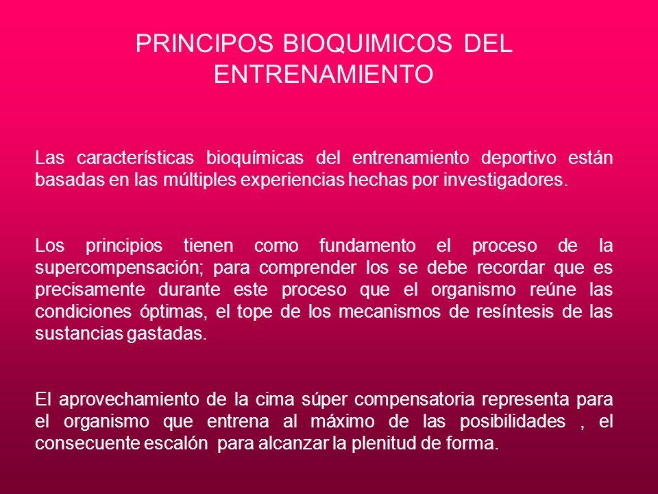 PRINCIPOS BIOQUIMICOS DEL ENTRENAMIENTO