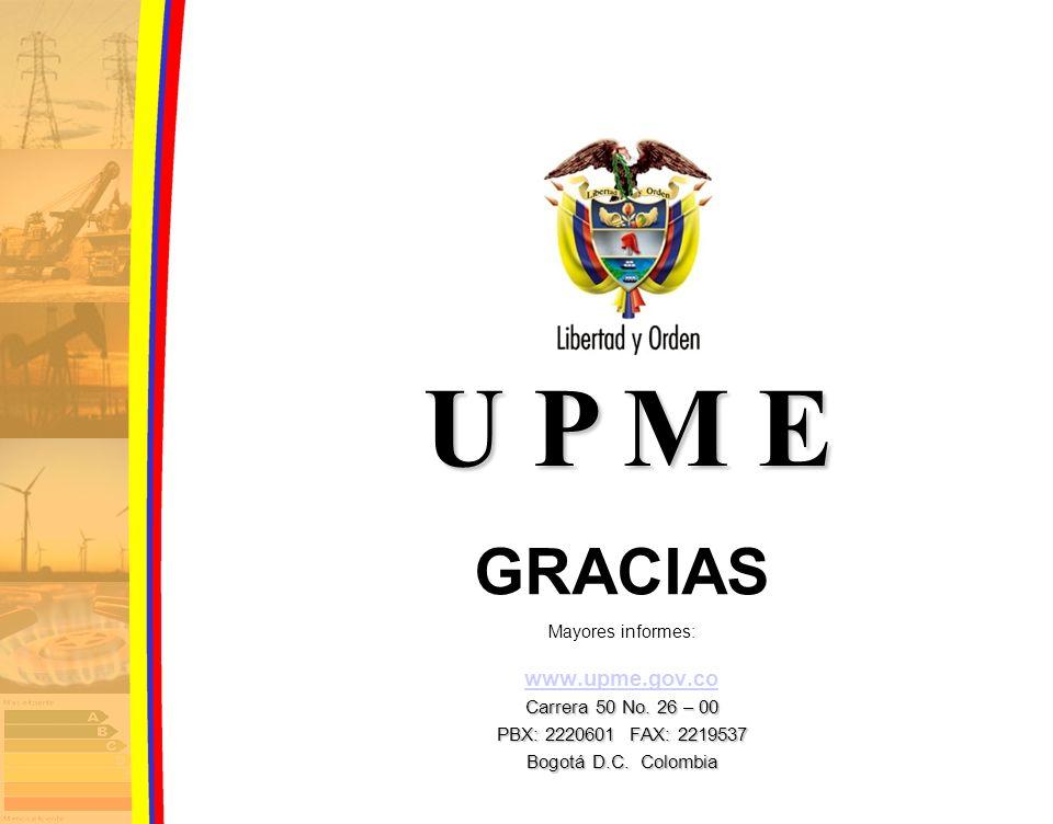 U P M E GRACIAS www.upme.gov.co Carrera 50 No. 26 – 00