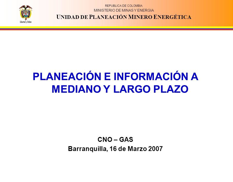 PLANEACIÓN E INFORMACIÓN A MEDIANO Y LARGO PLAZO