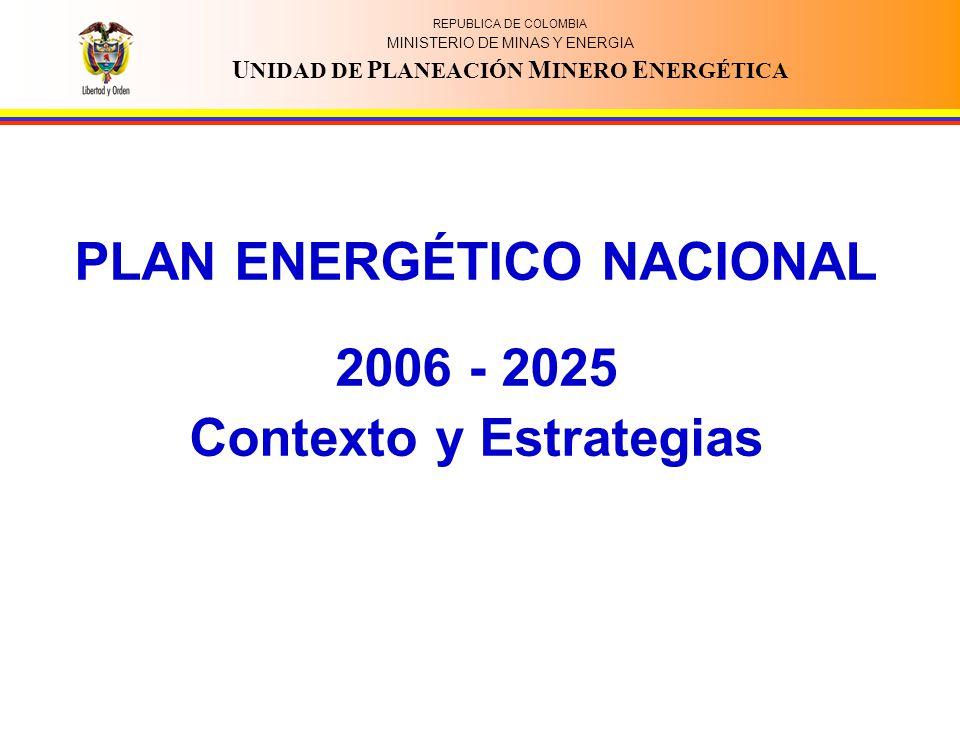 PLAN ENERGÉTICO NACIONAL Contexto y Estrategias