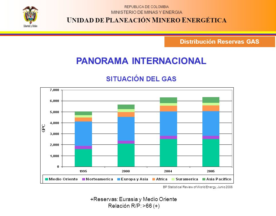 Distribución Reservas GAS PANORAMA INTERNACIONAL
