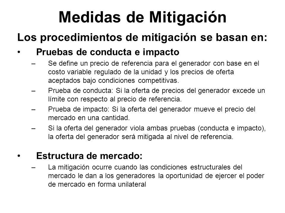 Medidas de Mitigación Los procedimientos de mitigación se basan en: