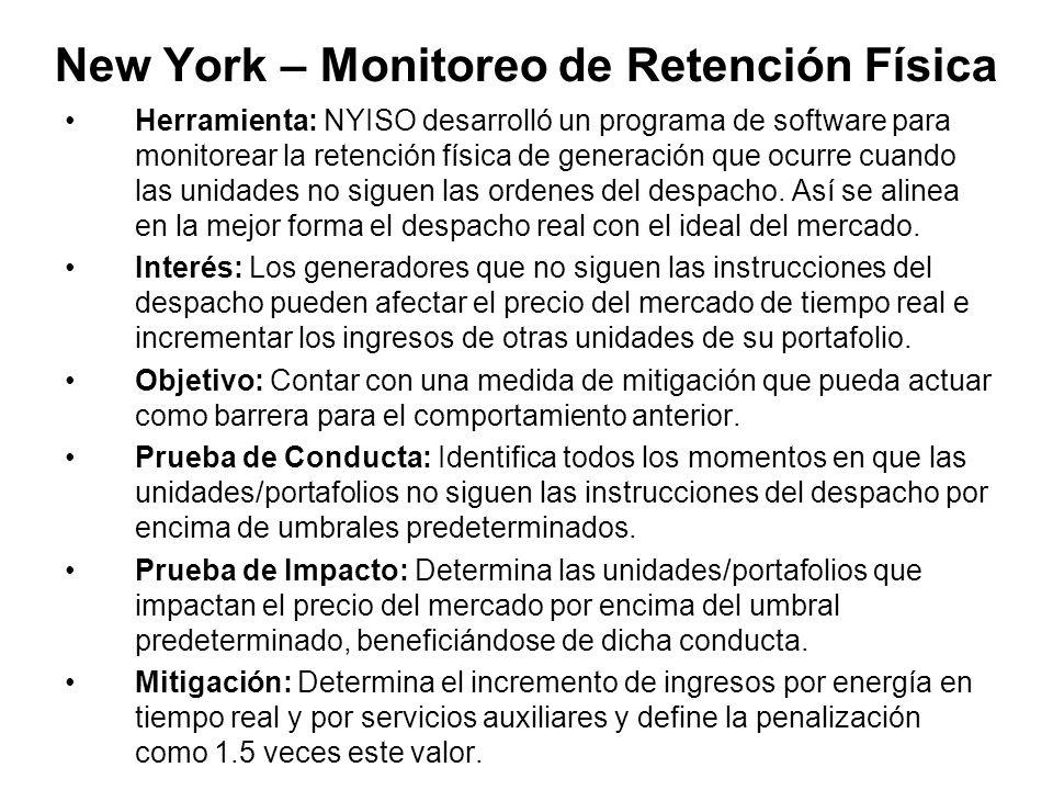 New York – Monitoreo de Retención Física