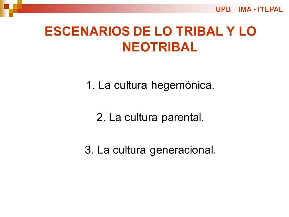 ESCENARIOS DE LO TRIBAL Y LO NEOTRIBAL