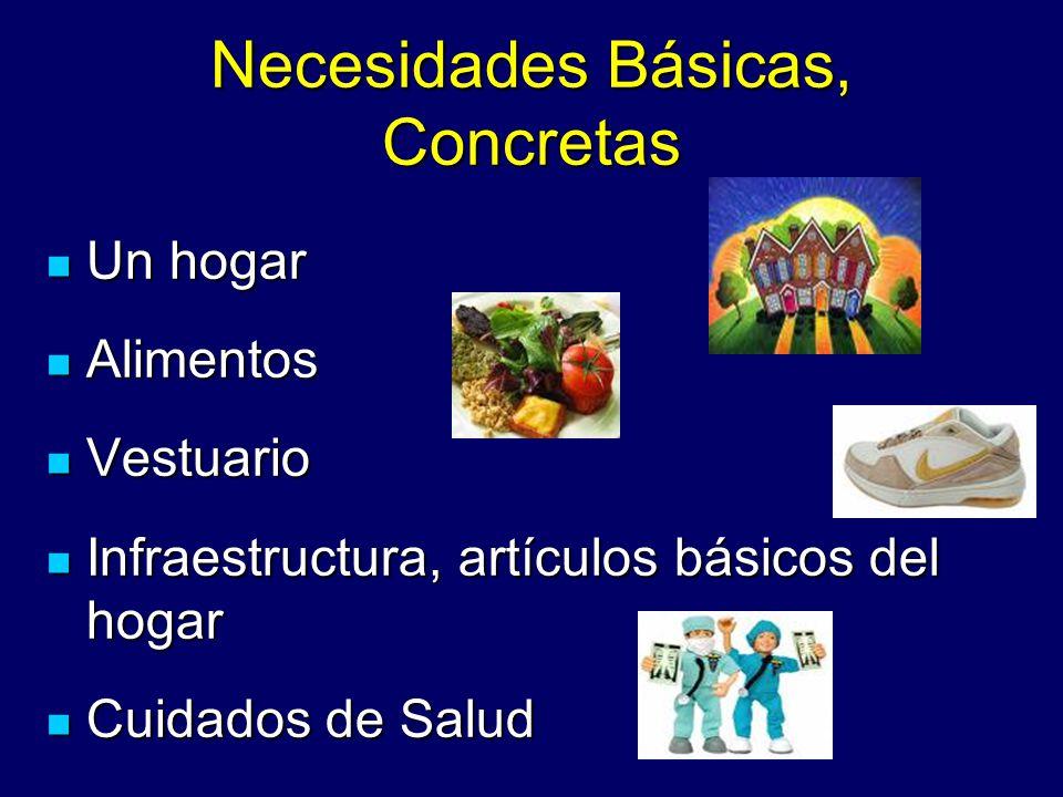 Necesidades Básicas, Concretas