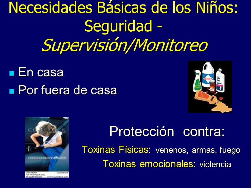 Necesidades Básicas de los Niños: Seguridad - Supervisión/Monitoreo
