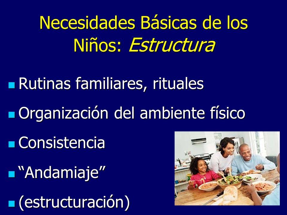 Necesidades Básicas de los Niños: Estructura