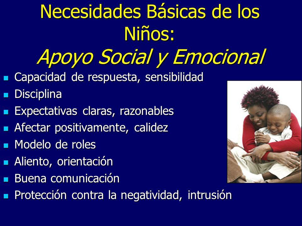 Necesidades Básicas de los Niños: Apoyo Social y Emocional