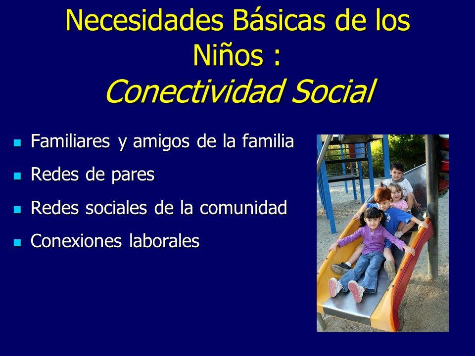 Necesidades Básicas de los Niños : Conectividad Social