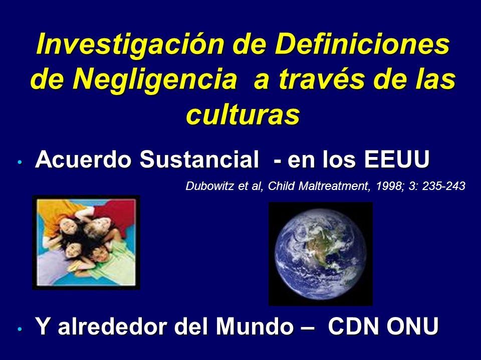 Investigación de Definiciones de Negligencia a través de las culturas