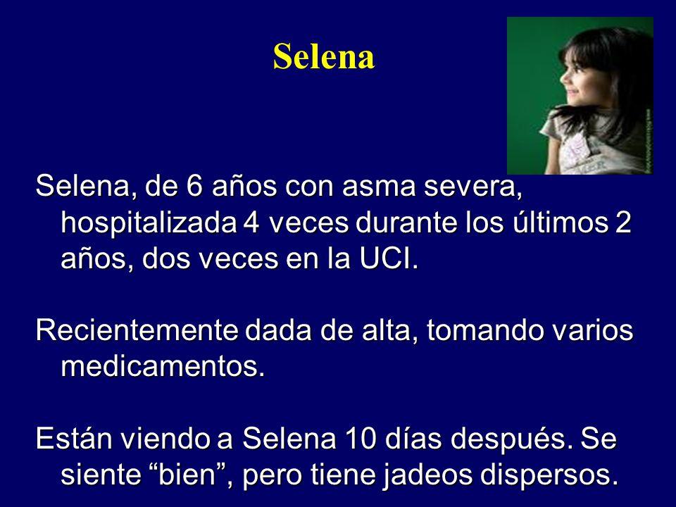 Selena Selena, de 6 años con asma severa, hospitalizada 4 veces durante los últimos 2 años, dos veces en la UCI.