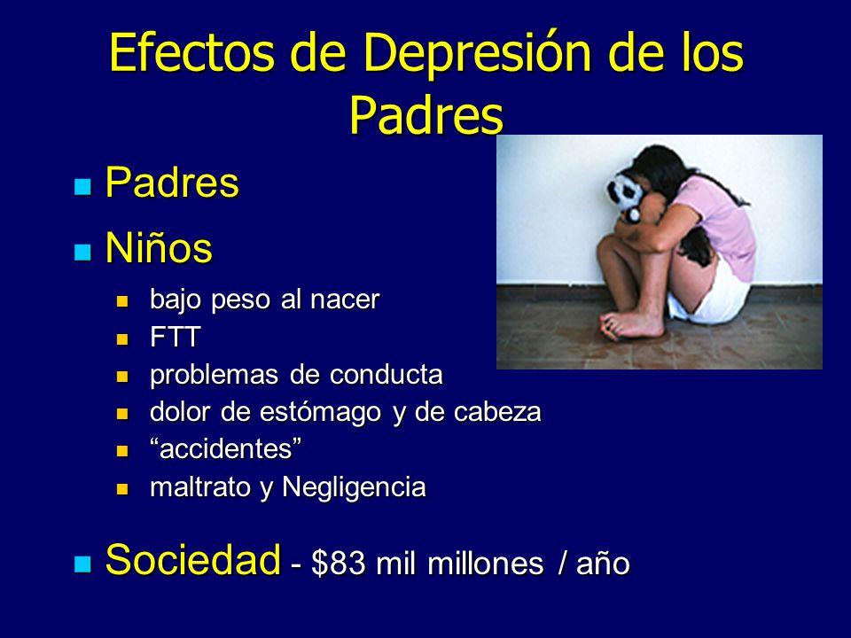Efectos de Depresión de los Padres