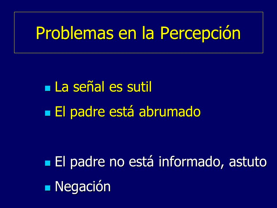 Problemas en la Percepción