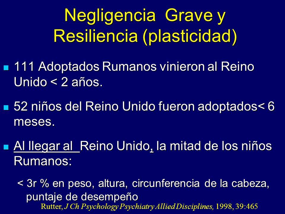 Negligencia Grave y Resiliencia (plasticidad)